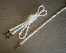 14mm white rope reins